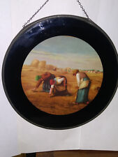 """Nice Vintage Flue Hole Cover Picture 8"""" Round"""