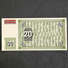 20 DM pattern BANCONOTA test Note specimen Money Nixdorf Computer 8864-SERIE 1975
