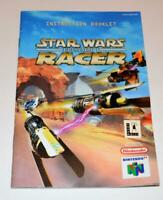 MANUAL ONLY Star Wars: Episode I- Racer Nintendo 64 Instruction Booklet N64