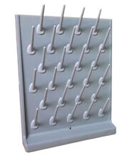 Wall Desk Grey Color Drying Rack PP 27 Pegs Lab Educational Cleaning Supply New