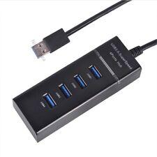 Mini 4 Port USB HUB 5Gbps USB 3.0 Splitter Adapter with LED for Tablet PC Laptop