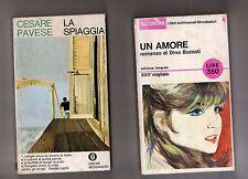 cesare pavese,la spiaggia - dino buzzati,un amore - 2 libri 10 euro -