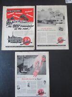 VINTAGE 1952, 1954 & 1955 FULLER TRANSMISSION (ROADRANGER) PRINT ADS (3)