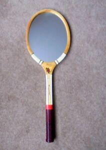 Vintage Upcycled SLAZENGER DEMON Wooden Tennis Racket MIRROR