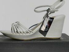 Sandales Geox Alena Chaussures Femme 39,5 Espadrilles Blanc Escarpins UK6.5 Neuf