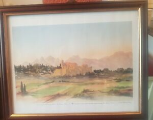 Limited edition print of a view in South of France by HRH The Prince Of Wales