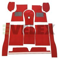 MORRIS MINOR CLARET RED CARPET SET 1955 TO 1971 CARRELLI WITH HESSIAN BACKING