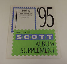Scott Brazil #2 1995 Sealed Supplement Item #644S095 Stamp Album Pages