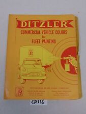 DITZLER PAINT CHIP BOOK-TRUCK COMMERCIAL COLORS 1955-1962 FORD-CHEVY-MACK-WILLYS