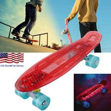 22'' Cruiser Skateboard Graphic Red Plastic Skateboard for Kids Boys Ux