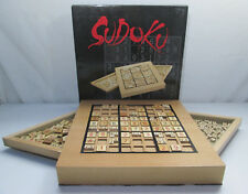 Sudoku Game with Numbered Tiles and Thinking Tiles by Wood Expressions PRE-OWNED