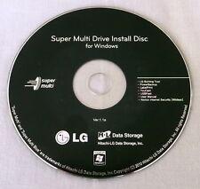 LG Super Multi Drive Install Disc for Windows