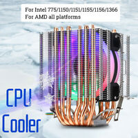 CPU Cooler 6 Heatpipe RGB Fan Heatsink for Intel LGA1150 1151 1155 775 1156