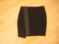 BNWOT Witchery Black Stretch Skirt with contrast  Size 4