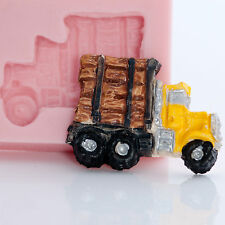 Log Truck Silicone Mold Gum Paste Fondant Candy Resin Polymer Clay Mould (895)