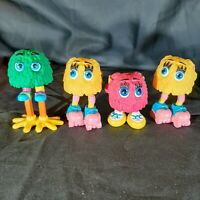 Lot of 4 Vintage McDonald's Happy Meal Fry Gals Happy Meal Toys Cake Topper
