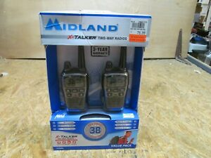 NEW -- Set of Midland T71VP3 X-TALKER 2-Way Radios     (Lot A3318)
