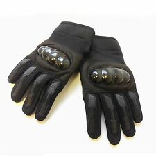 New Men Motorcycle Biker Hard Knuckle Military Security Black Hand Gloves Pair