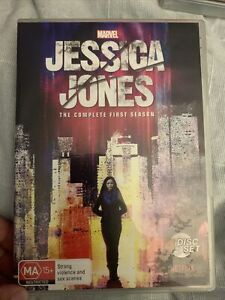 Jessica Jones Season 1 (DVD, 2015, 4-Disc Set) Region 4 With Krysten Ritter VGC