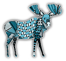 Patterned Moose Car Bumper Sticker Decal 5'' x 5''