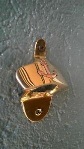 Décapsuleur mural du marin, en laiton avec ancre cuivre, neuf