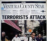 World Trade Center 9/11 2001 1st Headline Newspaper Ventura County Star WTC VTG
