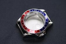 GMT Pepsi style watch case Blue and Red Bezel ETA 2836 ETA 2824-2 Seagull ST1612