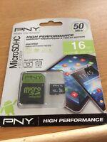 PNY High Performance MicroSDHC Memory Card 16 GB Class 10 UHS-1 U1 Sd Card