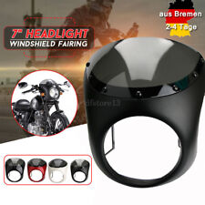 7'' Scheinwerfer Verkleidung Lampenmaske Windschutzscheibe für Harley ATV Roller