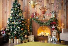 7x5' Background Xmas Christmas Tree Gifts Fireplace Backdrop Photo Prop Interior