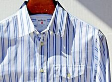 GAP M Gentleman's Blue & White Striped Flap Pocket Cotton 'Modern Oxford' Shirt!