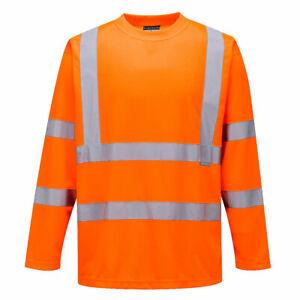 S178 Warnschutz Langarm T-Shirt Arbeit Beruf Verkehr Sichtbark Atmungsaktiv