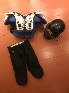 American Football helmet, body armour and shorts.