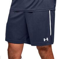 Under Armour UA HeatGear Mens Blue Maquina 2.0 Sports Training Running Shorts L