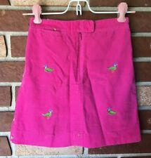 Lilly Pulitzer Girls 6 Pink Corduroy Embroidered Mallard Duck Skirt