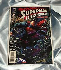 SCOTT SNYDER'S SUPERMAN UNCHAINED #1~HAND-SIGNED BY ALEX SINCLAIR~JIM LEE ART~