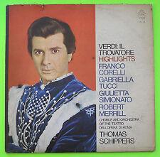 Franco Corelli Gabriella Tucci VERDI: IL TROVATORE HIGHLIGHTS Angel LP 36404