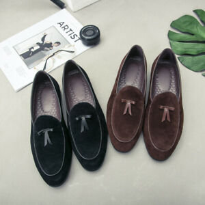 Mens Slip on Loafers Flats Round toe Driving Moccasin Gomminos Casual Shoes Plus
