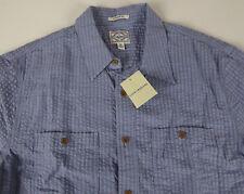Lucky BRAND Mens Seersucker Picnic Shirt M Blue Stripe