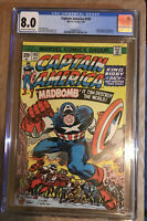CAPTAIN AMERICA #193 CGC 8.0 1st APPEARANCE OF MADBOMB. JACK KIRBY Story And Art