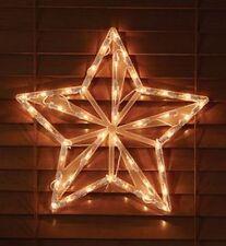 PRETTY 42 Lights Outdoor Yard Indoor Nativity Christmas STar Light 14INch