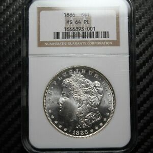 1886 Morgan Silver Dollar NGC MS64 PL - Proof Like (93001)