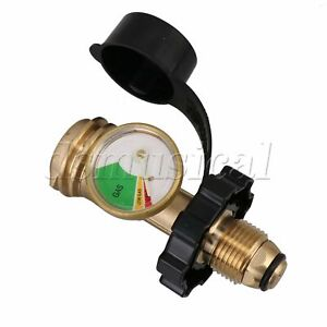 Gas Tank Adapter QCC Type1 with Level Indicator for 5-100lb Propane Tank