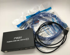 Pway Kvm Switch Hdmi 2 Port,4K@60Hz Usb 2.0 Supported, with Usb and Hdmi Cables