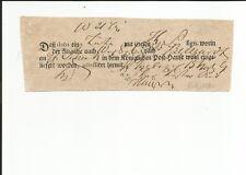 Preussen  Ratzebuhr handschriftlich auf Querformat-Postschein 1809