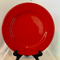 "Pier 1 Red Earthenware 10.5"" Dinner Plate Made in Spain"