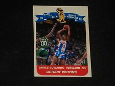 JAMES EDWARDS 1990-91 UNOCAL 76 NBA HOOPS SIGNED AUTOGRAPHED CARD PISTONS