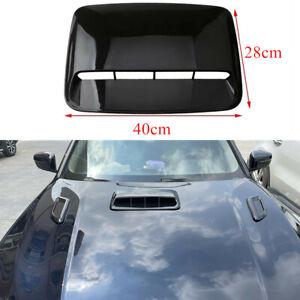 Universal 40cm*28cm Car Decorative Air Flow Intake Hood Scoop Vent Bonnet Cover