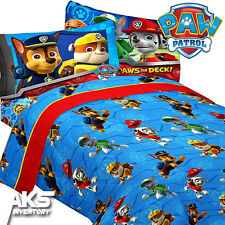 PAW Patrol Bedsheets Ruff Ruff Rescue Twin Bed Sheet Set Cotton Bedding Kids New