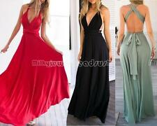 Sexy Womens Long Maxi Bandage Multiway Bridesmaids Party Convertible Dress AUHN5